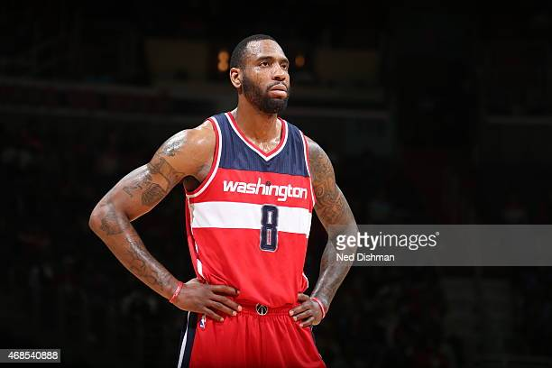 Rasual Butler of the Washington Wizards during the game against the New York Knicks on April 3 2015 at the Verizon Center in Washington DC NOTE TO...