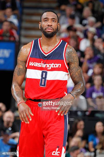 Rasual Butler of the Washington Wizards looks on during the game against the Sacramento Kings on March 22 2015 at Sleep Train Arena in Sacramento...