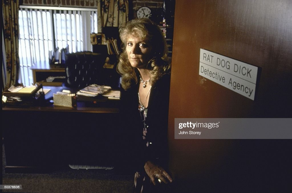 Rat Dog Dick private detective Fay Faron who helped bring down members of the Tene-Bimbo Gypsy clan, Angela Bufford, her beau George Lama, brother Danny Tene & mom Mary Steiner-Bufford, on charges of murder conspiracy & other crimes.