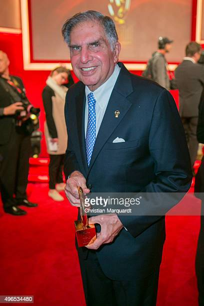 Ratan Tata attends the red carpet during the 'Goldenes Lenkrad' Award 2015 at Axel Springer Haus on November 10 2015 in Berlin Germany