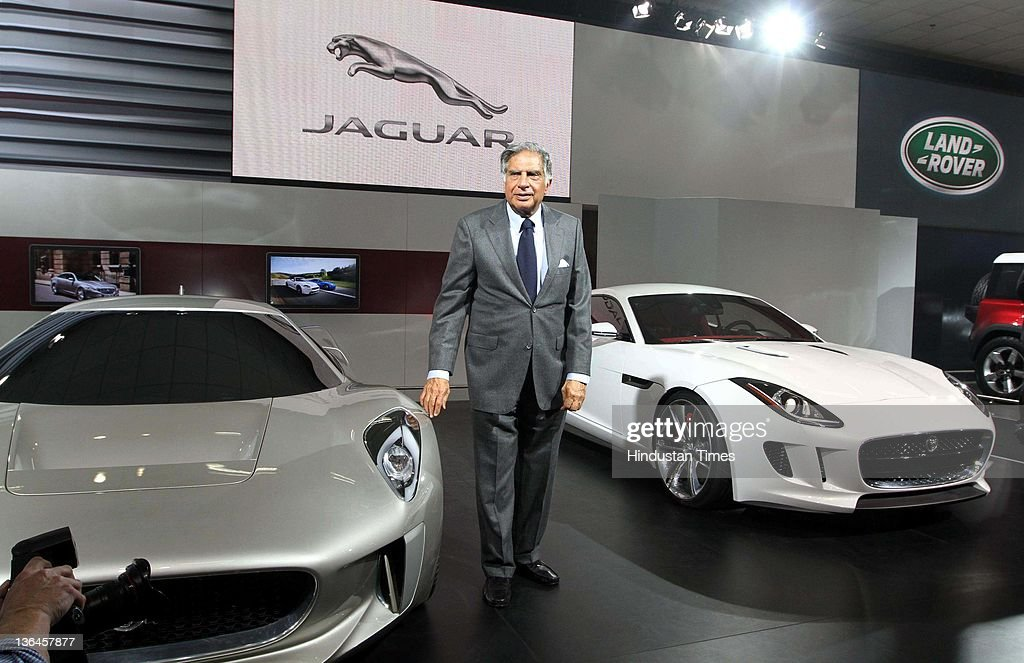 ratan tata c chairman tata group at jaguar pavilion. Black Bedroom Furniture Sets. Home Design Ideas