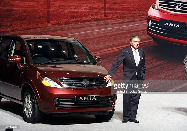 Ratan Tata during the launch of a new car TATA ARIA in Mumbai on 11th October 2010