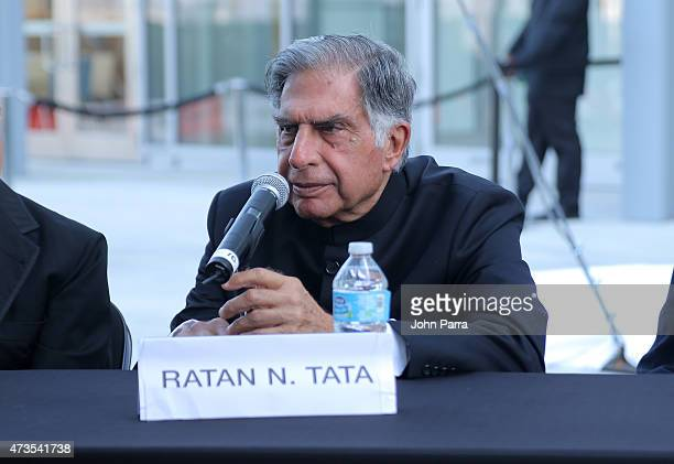 Ratan Tata speaks during Pritzker Architecture Prize 2015 at New World Symphony on May 15 2015 in Miami Beach Florida
