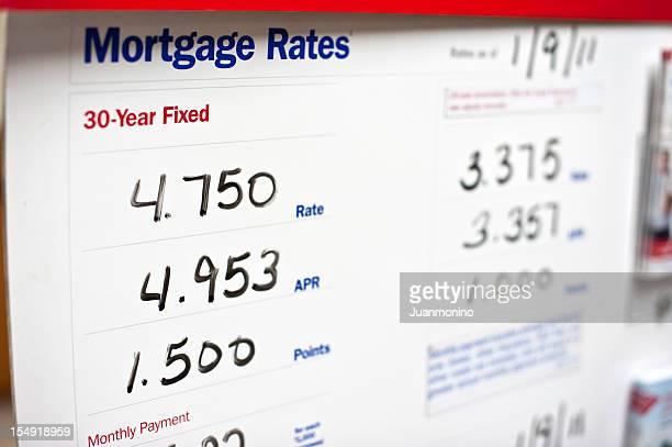 Rates for mortgages for a company