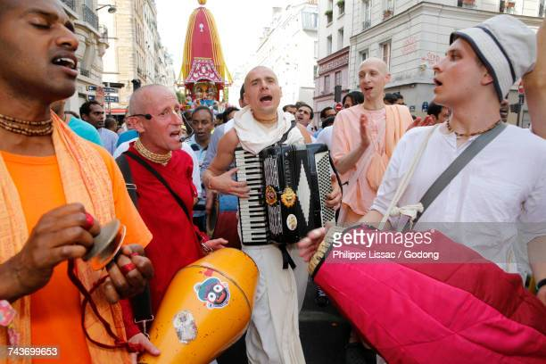 Ratha Yatra or Chariot Festival is a festival that involves moving deities Jagannath, Balabhadra, Subhadra and Sudarshana on a chariot. This yatra is organized by ISKCON in Paris. France.