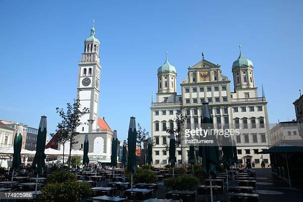 オーグスバーグ Rathaus Platz で、ババリア