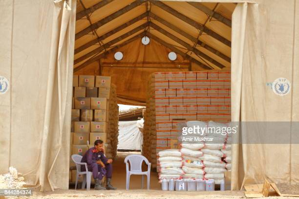 Ration Issuing Store In Flood Affected Camp