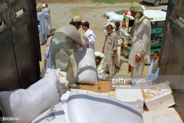 Ration Issuing To Flood Affected People In Camps