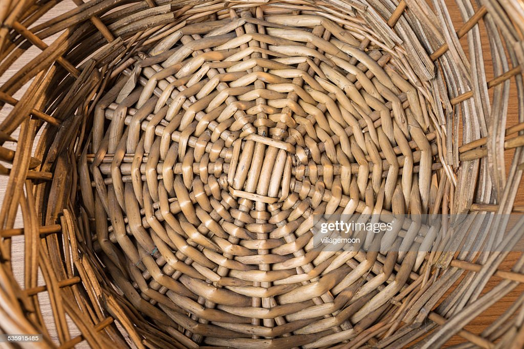 rattan tray background : Stock Photo