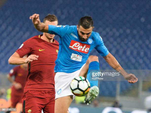 Raul Albiol during the Italian Serie A football match between AS Roma and SSC Napoli at the Olympic Stadium in Rome on october 14 2017