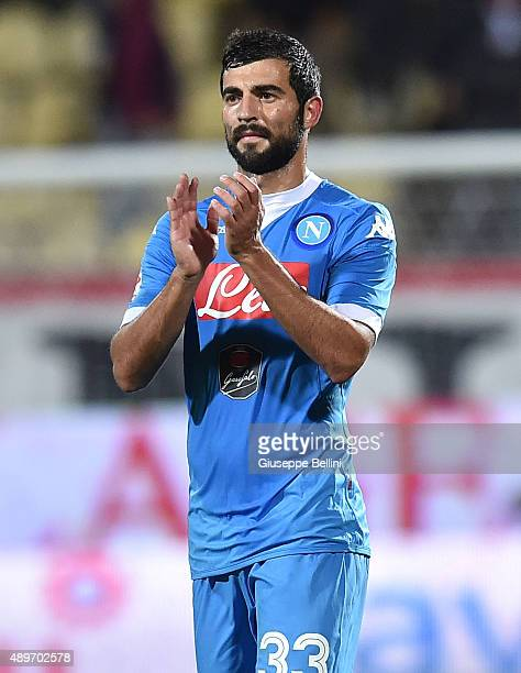 Raul Albiol of Napoli after the Serie A match between Carpi FC and SSC Napoli at Alberto Braglia Stadium on September 23 2015 in Modena Italy