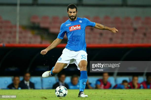 Raul Albiol of Napoli at San Paolo Stadium in Naples Italy on August 16 2017 during the UEFA Champions League Qualifying PlayOffs Round First Leg...