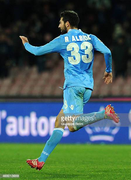 Raul Albiol of Napoli celebrates after scoring the equalising goal 11 during the Serie A match between SSC Napoli and AC Chievo Verona at Stadio San...