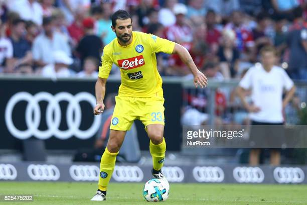 Raul Albiol of Napoli during the first Audi Cup football match between Atletico Madrid and SSC Napoli in the stadium in Munich southern Germany on...