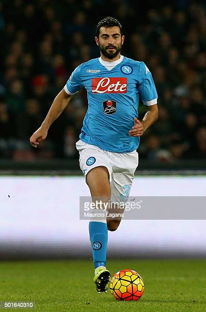 Raul Albiol of Napoli during the Serie A match betweeen SSC Napoli and AS Roma at Stadio San Paolo on December 13 2015 in Naples Italy