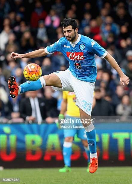 Raul Albiol of Napoli during the Serie A match between SSC Napoli and Carpi FC at Stadio San Paolo on February 7 2016 in Naples Italy