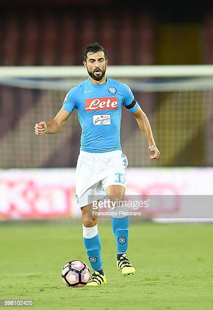 Raul Albiol of Napoli in action before the Serie A match between SSC Napoli and AC Milan at Stadio San Paolo on August 27 2016 in Naples Italy