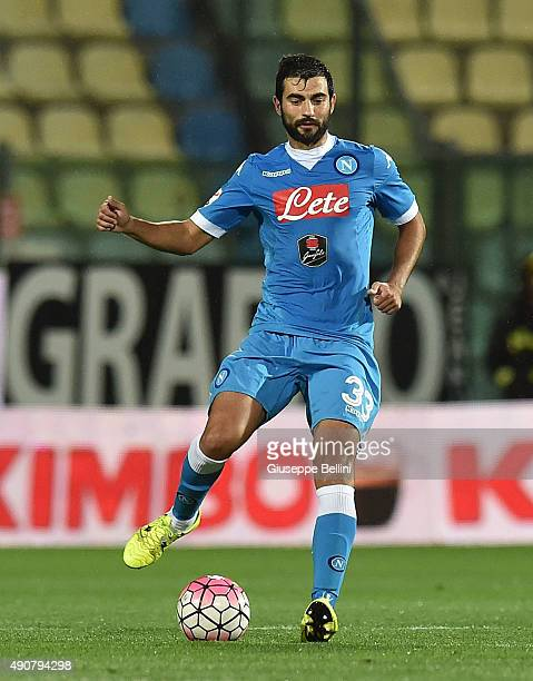 Raul Albiol of Napoli in action during the Serie A match between Carpi FC and SSC Napoli at Alberto Braglia Stadium on September 23 2015 in Modena...