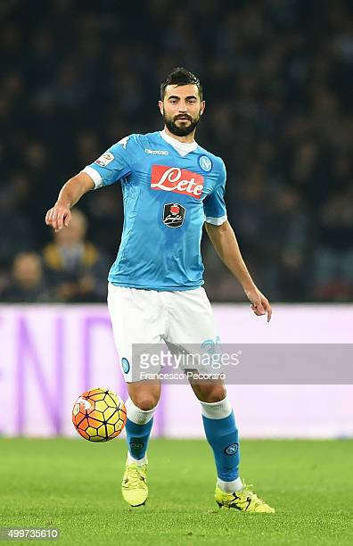 Raul Albiol of Napoli in action during the Serie A match between SSC Napoli and FC Internazionale Milano at Stadio San Paolo on November 30 2015 in...