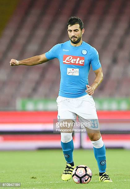 Raul Albiol of Napoli in action during the Serie A match between SSC Napoli and AC ChievoVerona at Stadio San Paolo on September 24 2016 in Naples...