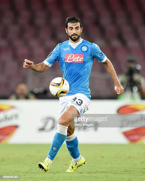 Raul Albiol of Napoli in action during the UEFA Europa League match between Napoli and Club Brugge KV on September 17 2015 in Naples Italy