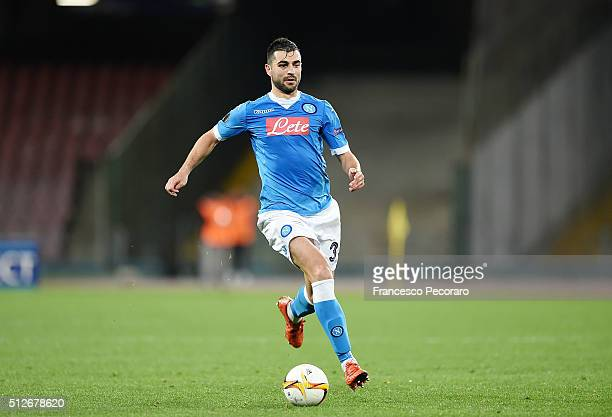 Raul Albiol of Napoli in action during the UEFA Europa League Round of 32 second leg match between SSC Napoli and Villarreal FC on February 25 2016...