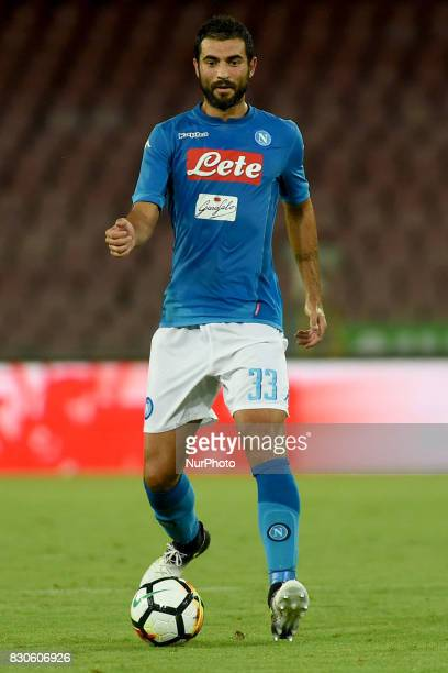 Raul Albiol of SSC Napoli during the Preseason Frendly match between SSC Napoli and RCD Espanyol at Stadio San Paolo Naples Italy on 10 August 2017