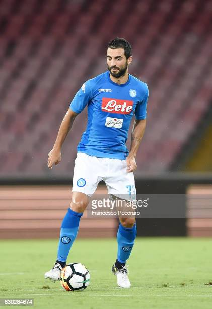 Raul Albiol of SSC Napoli in action during the preseason friendly match between SSC Napoli and Espanyol at Stadio San Paolo on August 10 2017 in...