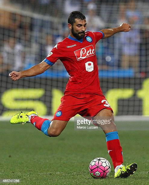 Raul Albiol of SSC Napoli in action during the Serie A match between US Sassuolo Calcio and SSC Napoli at Mapei Stadium Città del Tricolore on August...