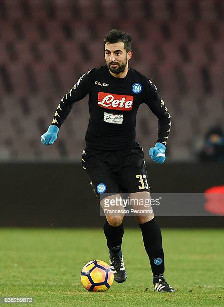 Raul Albiol of SSC Napoli in action during the TIM Cup match between SSC Napoli and AC Spezia at Stadio San Paolo on January 10 2017 in Naples Italy