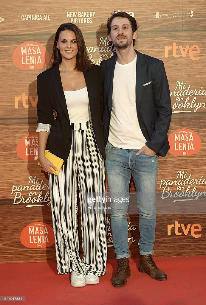 Raul Arevalo (R) and guest attend the 'Mi Panaderia de Brooklyn' premiere at Capitol cinema on June 30, 2016 in Madrid, Spain.