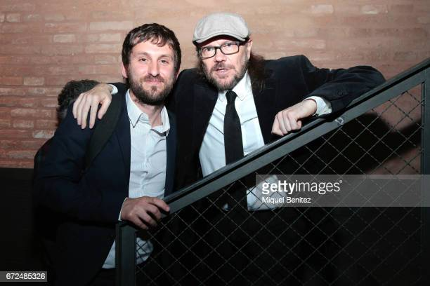 Raul Arevalo and Santiago Segura attends the 61th Sant Jordi Cinematography Awards 2017 at the old brewery Damm on April 24 2017 in Barcelona Spain