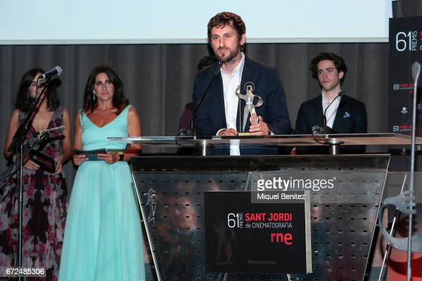 Raul Arevalo attends the 61th Sant Jordi Cinematography Awards 2017 at the old brewery Damm on April 24 2017 in Barcelona Spain