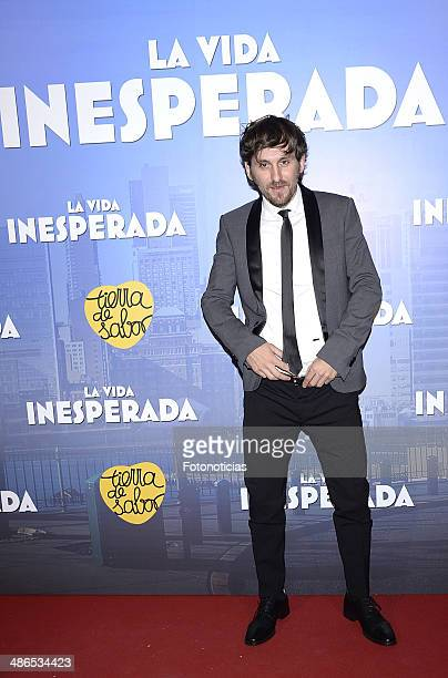 Raul Arevalo attends the 'La Vida Inesperada' premiere at Callao cinema on April 24 2014 in Madrid Spain