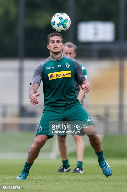 Raul Bobadilla during the training session of Borussia Moenchengladbach at BorussiaPark on August 18 2017 in Moenchengladbach Germany