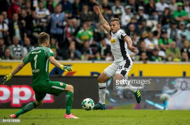 Raul Bobadilla of Borussia Moenchengladbach controls the ball during the Bundesliga match between Borussia Moenchengladbach and Eintracht Frankfurt...