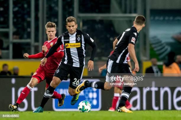 Raul Bobadilla of Borussia Moenchengladbach controls the ball during the Bundesliga match between Borussia Moenchengladbach and VfB Stuttgart at...
