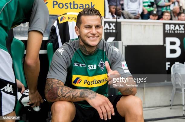 Raul Bobadilla of Borussia Moenchengladbach prior the Bundesliga match between Borussia Moenchengladbach and 1 FC Koeln at BorussiaPark on August 20...
