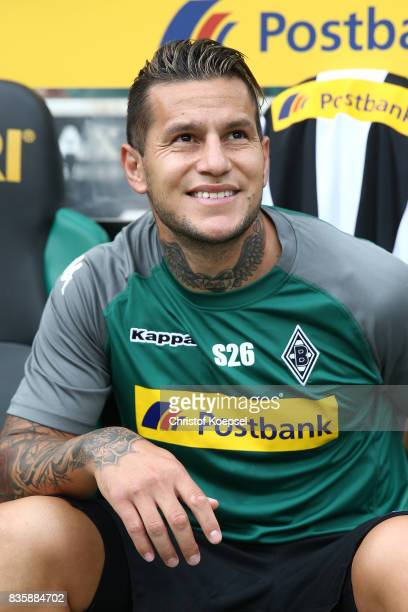 Raul Bobadilla of Moenchengladbach during the Bundesliga match between Borussia Moenchengladbach and 1 FC Koeln at BorussiaPark on August 20 2017 in...