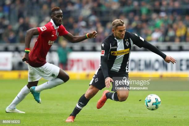 Raul Bobadilla of Moenchengladbach during the Bundesliga match between Borussia Moenchengladbach and Hannover 96 at BorussiaPark on September 30 2017...