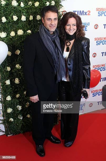 Raul Bova and his wife Chiara Giordano attend the premiere of ''Scusa Ma Ti Voglio Sposare'' at Embassy Cinema on February 11 2010 in Rome Italy