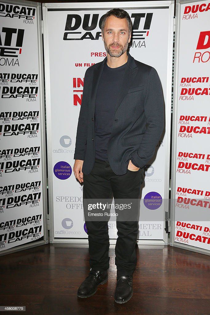 Raul Bova attends the 'Indovina Chi Viene A Natale' party at Ducati Caffe on December 19, 2013 in Rome, Italy.