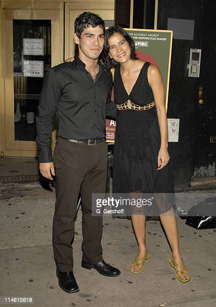 Raul Castillo and Patricia Velasquez during The Opening Night of the World Premiere of 'School of the Americas' by Jose Rivera at Marions Continental...