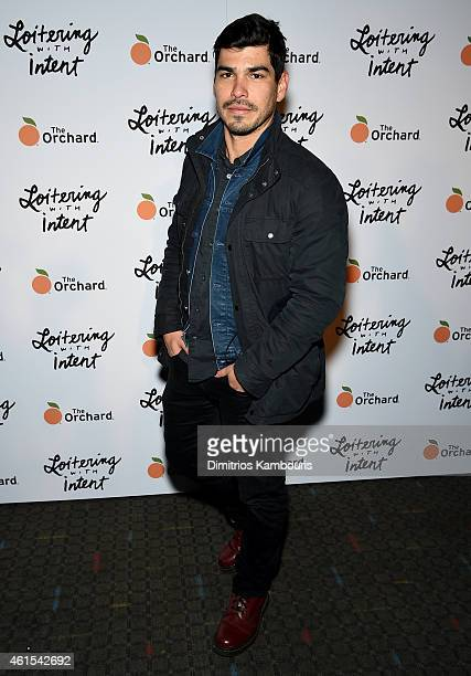 Raul Castillo attends 'Loitering With Intent' New York Screening at SVA Theater on January 14 2015 in New York City