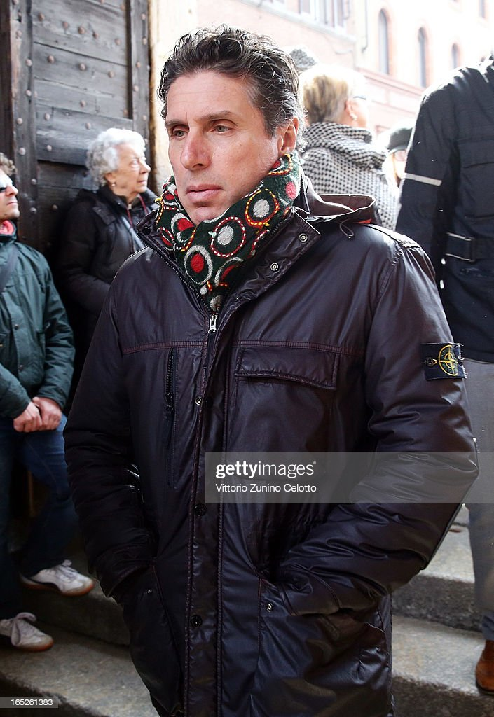 Raul Cremona attends the funeral of Singer Enzo Jannacci at Basilica di Sant'Ambrogio on April 2, 2013 in Milan, Italy.