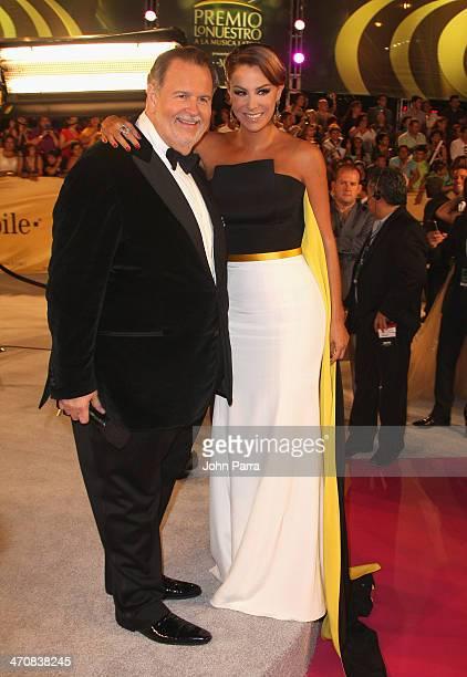Raul de Molina and Ninel Conde attend Premio Lo Nuestro a la Musica Latina 2014 at American Airlines Arena on February 20 2014 in Miami Florida