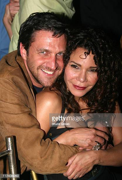 Raul Esparza and Daphne Rubin Vega during 'Rent' Celebrates 10th Anniversary on Broadway April 24 2006 at The Nederlander Theater in New York New...