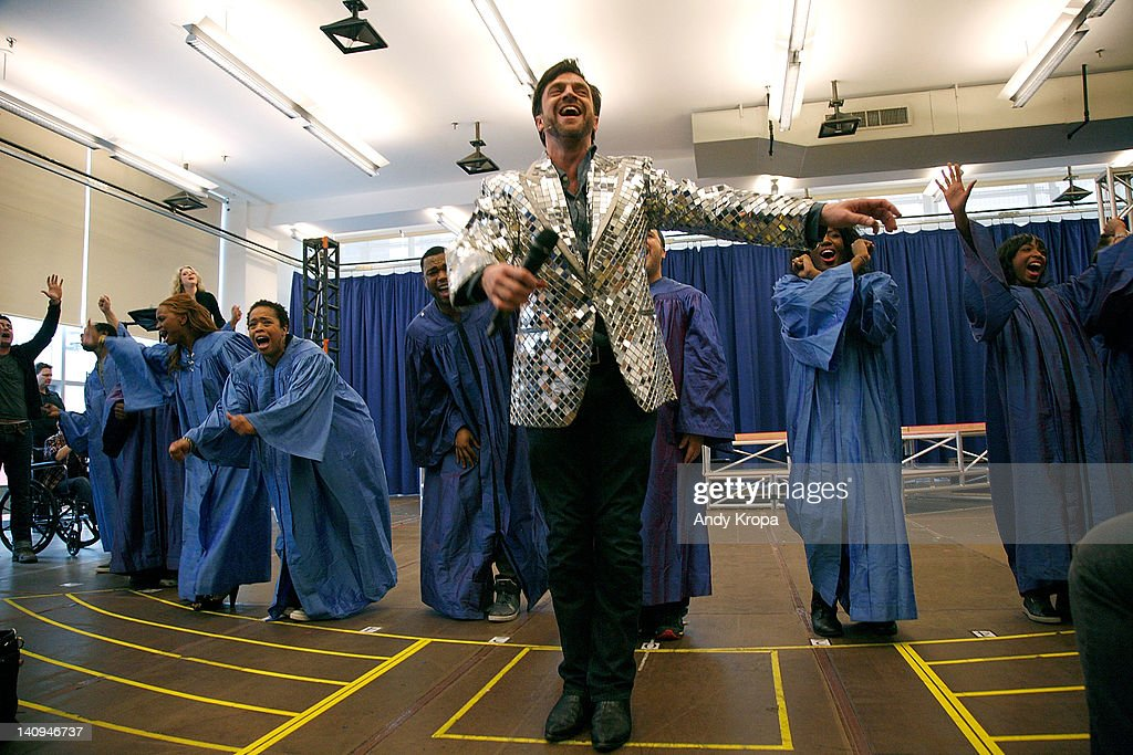 Raul Esparza attends Broadway's 'Leap Of Faith' sneak preview performance at The New 42nd Street Studios on March 8 2012 in New York City