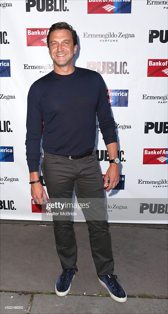 <a gi-track='captionPersonalityLinkClicked' href=/galleries/search?phrase=Raul+Esparza&family=editorial&specificpeople=214060 ng-click='$event.stopPropagation()'>Raul Esparza</a> attends the The Public Theatre's Opening Night Performance of 'King Lear' at the Delacorte Theatre on August 5, 2014 in New York City.