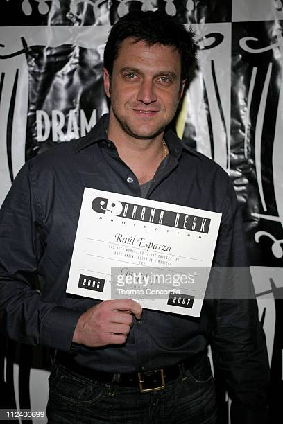 Raul Esparza during Drama Desk Cocktail Reception for Nominees May 1 2007 at Arte' Cafe in New York City New York United States